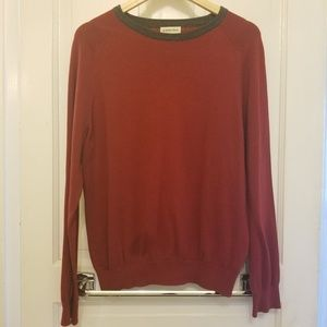 St. John's Bay Red and Gray Sweater (Size M/M)